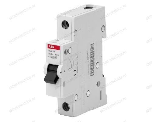 Автоматический выключатель однополюсный 6А С ABB