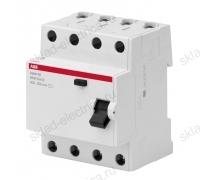Выключатель дифференциальный четырехполюсный (УЗО) 25А 30м АС ABB