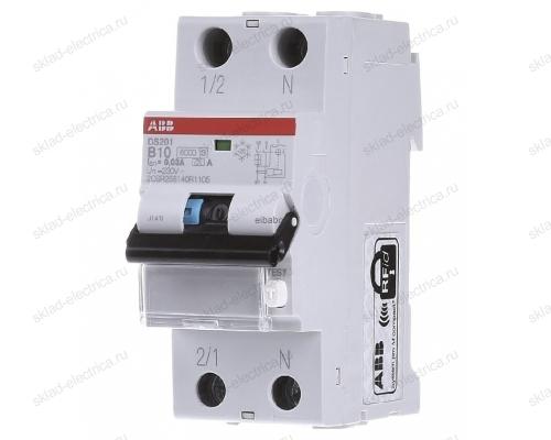 Автоматический выключатель дифференциального тока АВВ (АВДТ) DS201 6А С 30мА АС 6кА