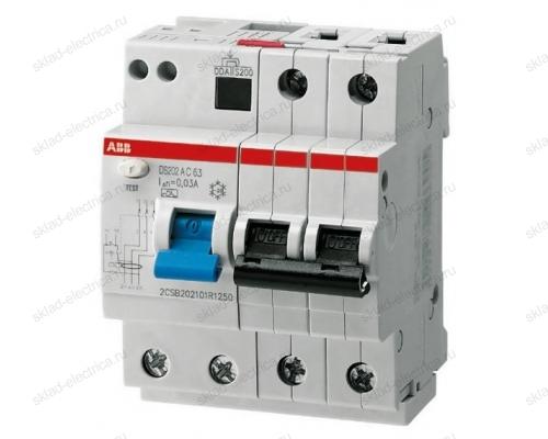 Автоматический выключатель дифференциального тока АВВ (АВДТ) DS202 16А С 30мА АС 6кА