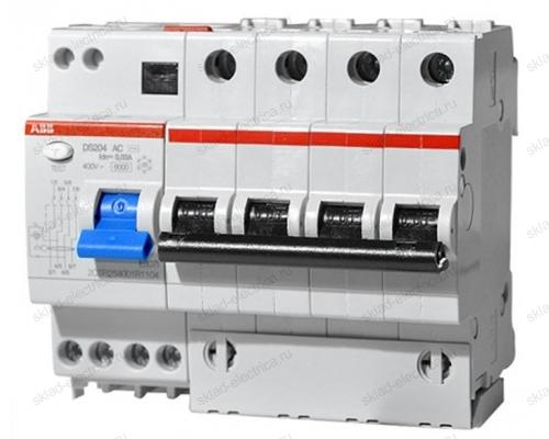 Автоматический выключатель дифференциального тока АВВ (АВДТ) DS204 10А С 30мА АС 6кА