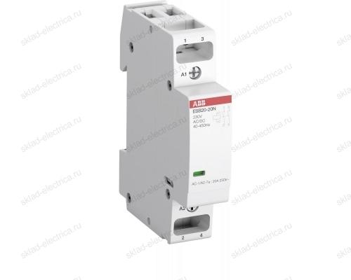 Контактор модульный 20А АВВ ESB20-11N-06 АС-1 1НО+1НЗ катушка 230В AC/DC  1SBE121111R0611
