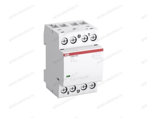 Контактор модульный 63А АВВ ESB63-40N-06 АС-1 4НО катушка 230В AC/DC  1SAE351111R0640