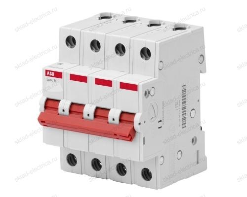 Выключатель нагрузки ABB Basic M 4п 16A (рубильник модульный) BMD51416