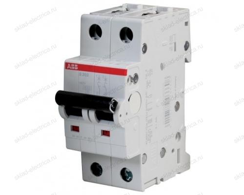 Выключатель автоматический двухполюсный 6А D S202 6кА АВВ 2CDS252001R0061