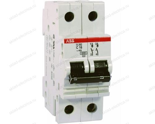 Выключатель автоматический двухполюсный 6А C S202 6кА АВВ 2CDS252001R0064