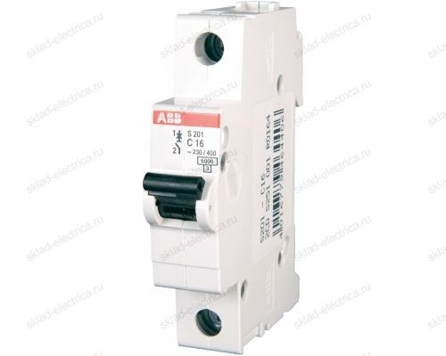 Выключатель автоматический однополюсный 0,5А C S201 6кА АВВ 2CDS251001R0984