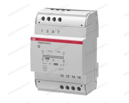 Трансформатор разделительной безопасности TS25/12-24C 4 модуля ABB 2CSM251043R0811