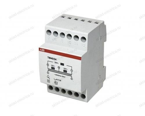 Трансформатор звонковый 220/24(12+12) TM40/24 3 модуля АВВ 2CSM228785R0802
