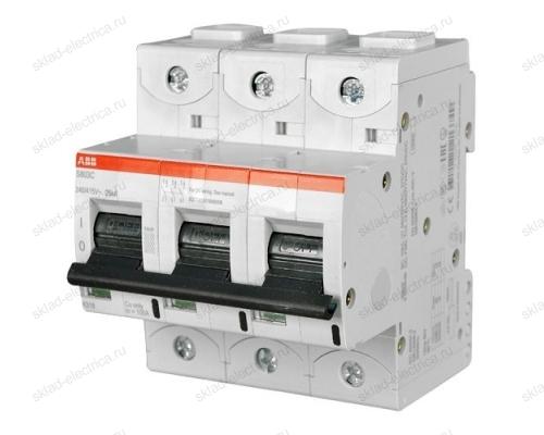 Выключатель автоматический трехполюсный 80А C S803C 25kA АВВ 2CCS883001R0804