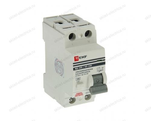 Выключатель дифференциального тока (УЗО) 2п 32А 30мА АС EKF