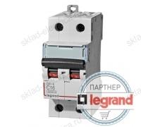 Legrand Выключатель автоматический двухполюсный 6А C DX3-E 6кА (арт. 407274)