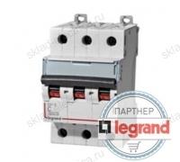 Legrand Выключатель автоматический трехполюсный 6А C DX3-E 6кА (арт. 407288)