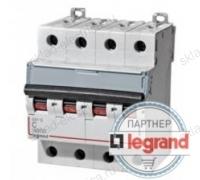 Legrand Выключатель автоматический четырехполюсный 6А C DX3-E 6kA/6kА (арт. 407302)