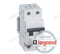 Автоматический выключатель Legrand RX3 4,5кА 6А 2-полюсный, характеристика C