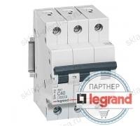 Автоматический выключатель Legrand RX3 4,5кА 6А 3-полюсный, характеристика C
