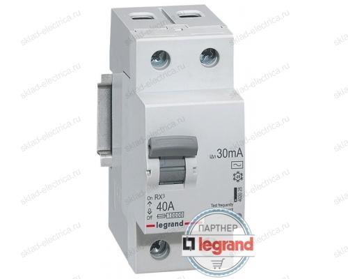 Автоматический выключатель дифференциального тока (диффавтомат) Legrand RX3 30мА 6А 1-полюс + нейтраль, AC