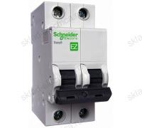 Автоматический двухполюсный выключатель Schneider Electric Easy9 C6 4,5кА