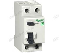 Выключатель дифференциальный двухполюсный (УЗО) Schneider Electric Easy9 25А AC30