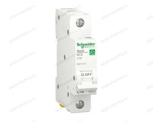 Автоматический выключатель Schneider Electric Resi9 1P 16А (C) 6кА, R9F12116