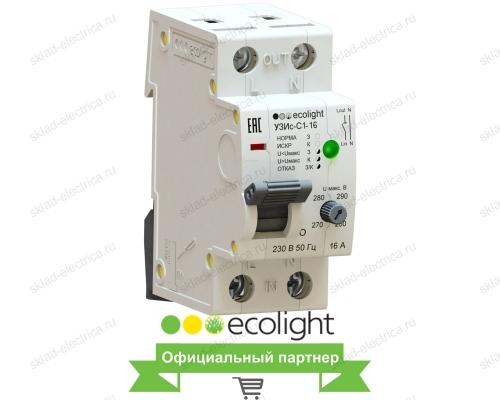 Устройство защиты от искрения EcoEnergy УЗИс-С1-16 (AFDD/УЗДП)