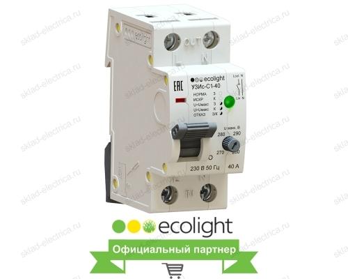 Устройство защиты от искрения EcoEnergy УЗИс-С1-40 (AFDD/УЗДП)