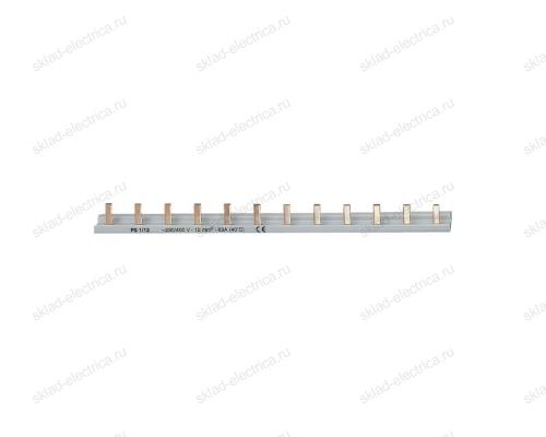 Шина соединительная PIN гребенка 1-полюс 63А 12 модулей PS 1/12 АВВ