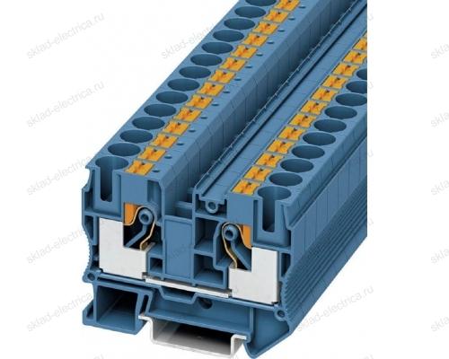 Клемма Phoenix Contact PT 2,5 BU (0,14-4 мм2) синяя 5,2мм (1/50) 3209523
