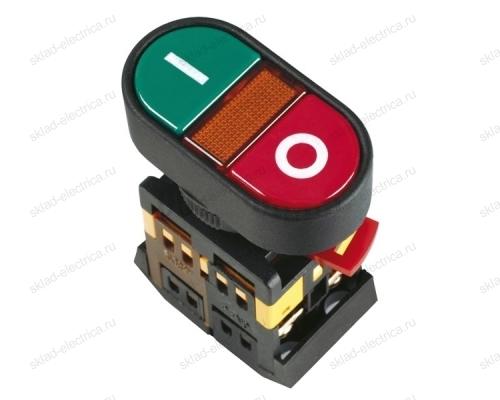 """Кнопка APВВ-22N """"I-O"""" d22мм неон/240В 1НО+1НЗ ИЭК"""