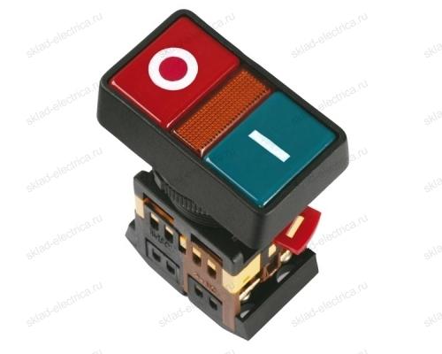 """Кнопка РPВВ-30N """"I-O"""" d30мм неон/240В 1НО+1НЗ ИЭК"""
