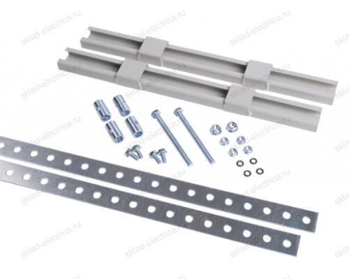 Комплект крепления металлокорпуса к столбу монтажной полосой (для круглого столба)