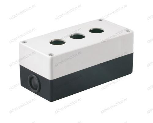 Корпус КП103 для кнопок 3 места белый ИЭК