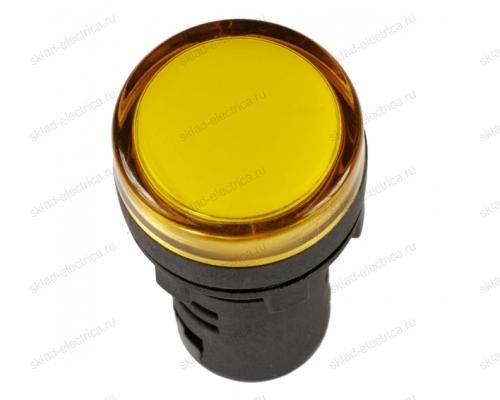 Лампа AD22DS(LED)матрица d22мм желтый 24В AC/DC ИЭК