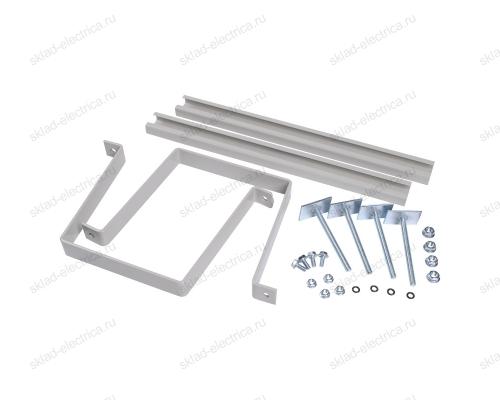 Комплект крепления металлокорпуса к столбу скобой (для квадратного столба)