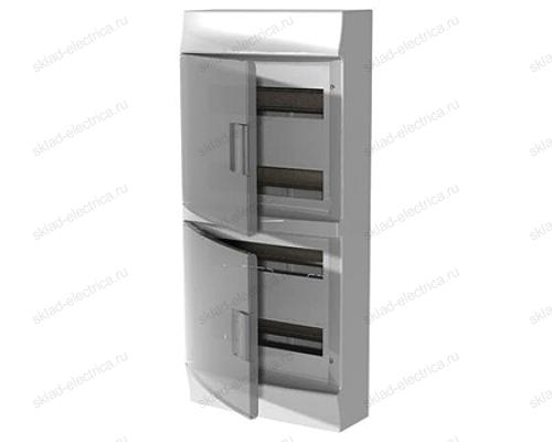 Щит АВВ распределительный навесной 48 мод. пластиковый дымчатая дверца (с клеммными блоками)