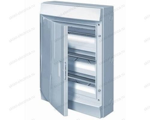 Щит АВВ распределительный навесной 54 мод. пластиковый белая дверца (с клеммными блоками)