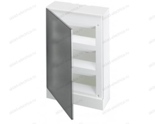 Щит АВВ распределительный навесной 36 мод. пластиковый дымчатая дверца (с клеммными блоками)