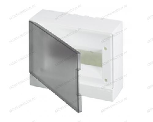 Щит АВВ распределительный навесной 12 мод. пластиковый дымчатая дверца (с клеммными блоками)