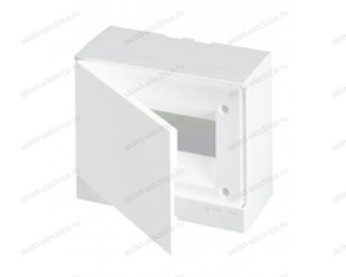 Щит АВВ распределительный навесной 8 мод. пластиковый белая дверца (с клеммными блоками)