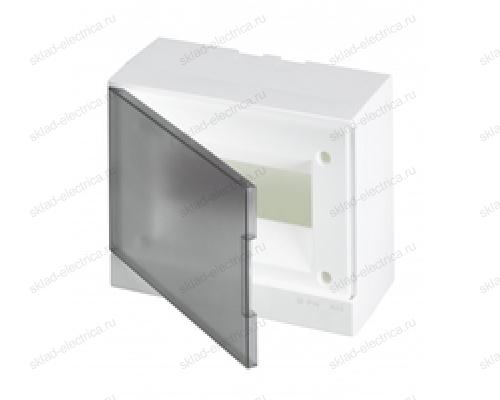 Щит АВВ распределительный навесной 8 мод. пластиковый дымчатая дверца (с клеммными блоками)