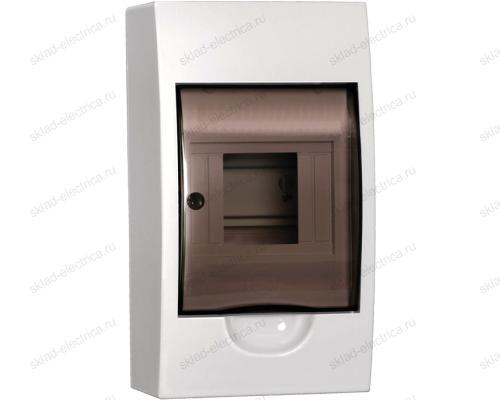 Бокс пластиковый накладной IEK ЩРН-П на 4 модуля с прозрачной дверкой