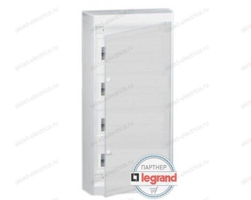 Щит Legrand Nedbox накладной на 48 (+4) модулей (4х12) с шинами N+PE с белой дверью