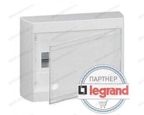 Щит Legrand Nedbox накладной на 12 (+1) модулей (1х12) с шинами N+PE с белой дверью