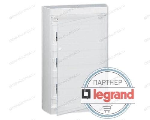 Щит Legrand Nedbox накладной на 36 (+3) модулей (3х12) с шинами N+PE с белой дверью