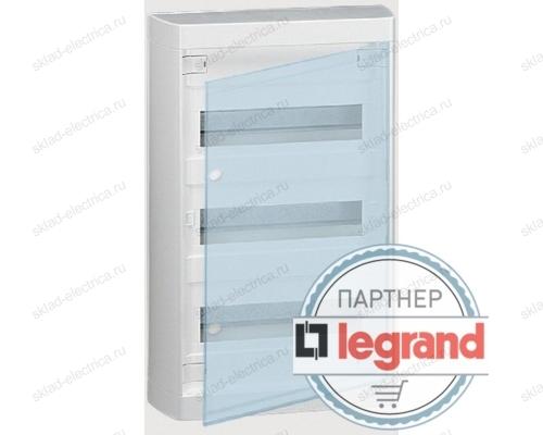 Щит Legrand Nedbox накладной на 36 (+3) модулей (3х12) с шинами N+PE с прозрачной дверью