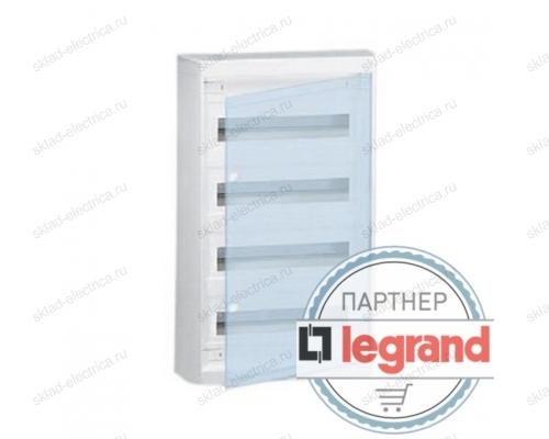 Щит Legrand Nedbox накладной на 48 (+4) модулей (4х12) с шинами N+PE с прозрачной дверью