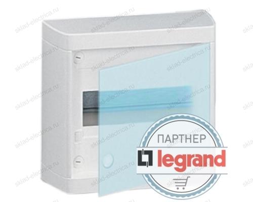 Щит Legrand Nedbox накладной на 8 модулей с шинами N+PE с прозрачной дверью