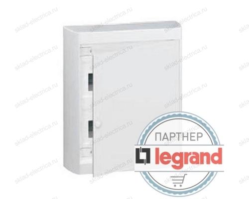Щит Legrand Nedbox накладной на 24 (+2) модуля (2х12) с шинами N+PE с белой дверью