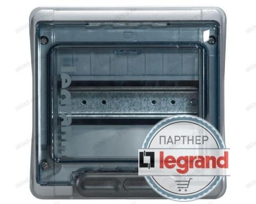 Бокс Legrand Plexo IP65 накладной на 8 модулей с шинами N+PE с прозрачной дверью