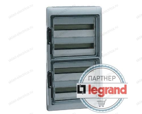 Бокс Legrand Plexo IP65 накладной на 72 (4х18) модуля с шинами N+PE с прозрачной дверью